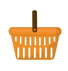 Shopping basket icon flat style isolated on white vector