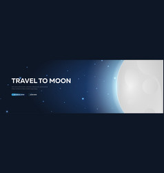 Space travel to moon shuttle astronomical galaxy vector