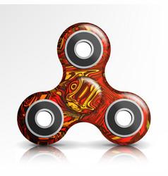 Spinner toy bright plastic fidgeting hand vector