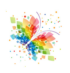 splash butterfly on white background vector image
