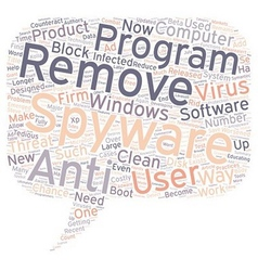 Spyware Eradicate It Now text background wordcloud vector