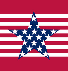 stars and stripes flag united states of vector image