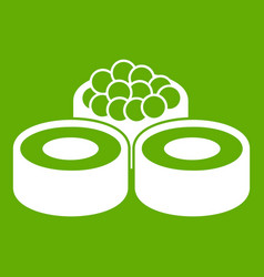 sushi icon green vector image