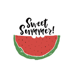 Sweet summer poster vector