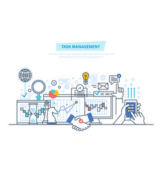 task management multitask time management vector image