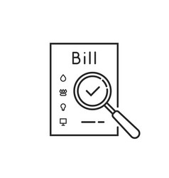Thin line payment of utility bills icon vector