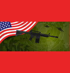 usa united states america military power army vector image