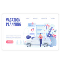 vacation smart planning landing page vector image