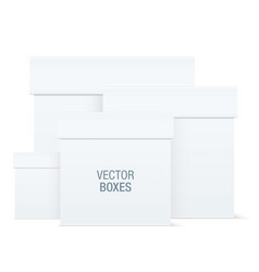 white boxes of different sizes vector image