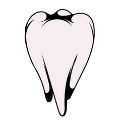 white tooth icon icon cartoon vector image