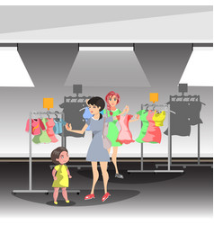 womans in shop buy clothes vector image vector image