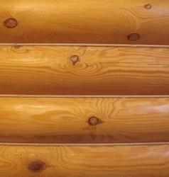 Wood log wall vector