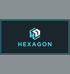 Xd hexagon logo design inspiration vector