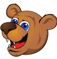 bear head cartoon vector image vector image