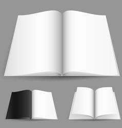 blank magazine vector image vector image