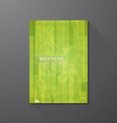 Book cover abstract green shapes vector image