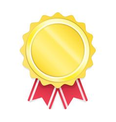 modern gold circle metal badge vector image vector image