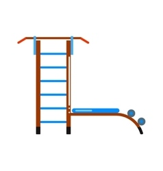 Sports staircase trainer exercises gymnastics vector image