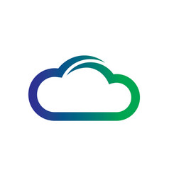 abstract cloud storage network logo vector image