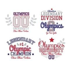 Fan Art Olympics vector image vector image