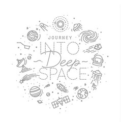 flat deep space monogram vector image