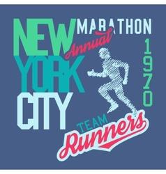 New York City Marathon vector image vector image