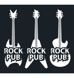 Pub with rock music vector