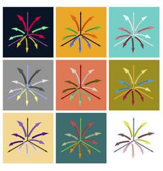 set of flat icons on stylish background arrow vector image vector image