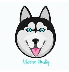 Siberian husky icon flat vector image