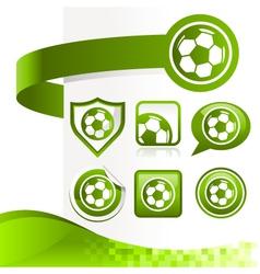 Soccer Ball Design Kit vector image vector image