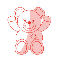 teddy bear design vector image