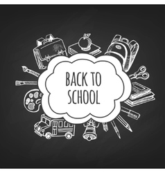 Back to school frame design vector image vector image