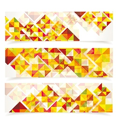 Banners mosaic WT vector image vector image