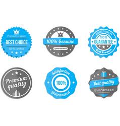 blue badges vector image