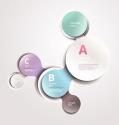 Design circle template vector image