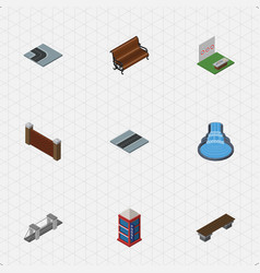 isometric architecture set of barrier turning vector image vector image