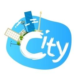 jakarta indonesia city skyline vector image