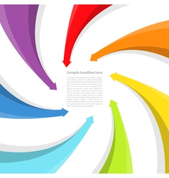 Background with rainbow arrows vector image vector image