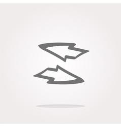 Button web icon with arrow set vector image