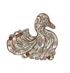 ethnic duck vector image vector image