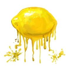 fruit lemon hand drawn vector image vector image