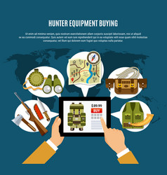 hunter equipment composition vector image vector image