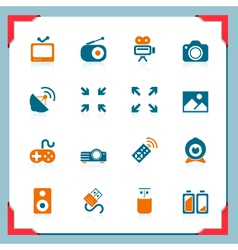 media icons - in a frame series vector image vector image