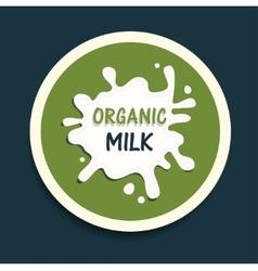 organic milk icon vector image vector image