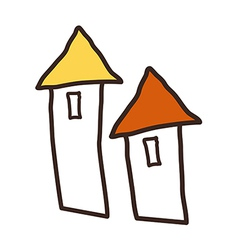 A pair of houses vector