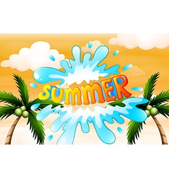 A summer artwork with coconut trees vector