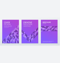 abstract geometric shapes polygon design vector image