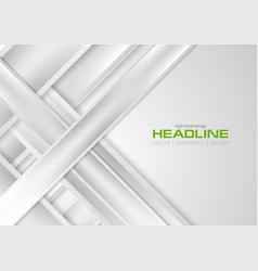 abstract grey smooth stripes tech corporate vector image