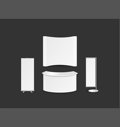 Advertising exhibition panel template design vector