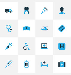 Antibiotic colorful icons set collection of vector
